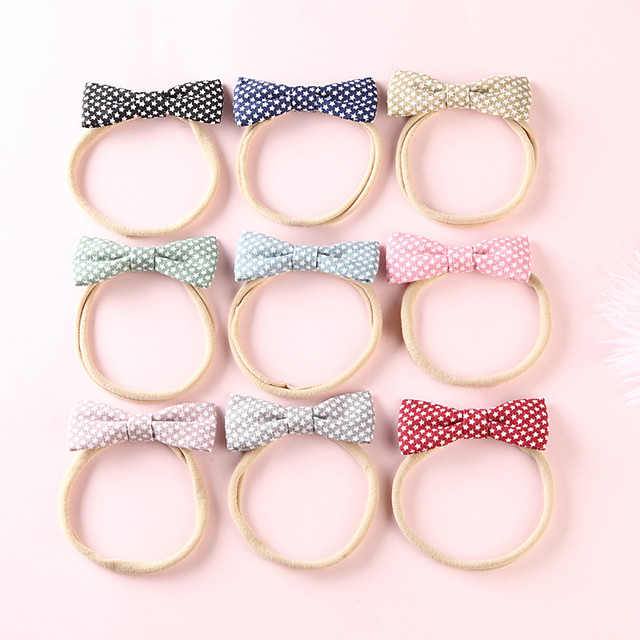 1pcs Toddler / Infant Girls' Active / Sweet Daily Wear Blue Galaxy Bow Nylon Hair Accessories Black / Blue / Red One-Size