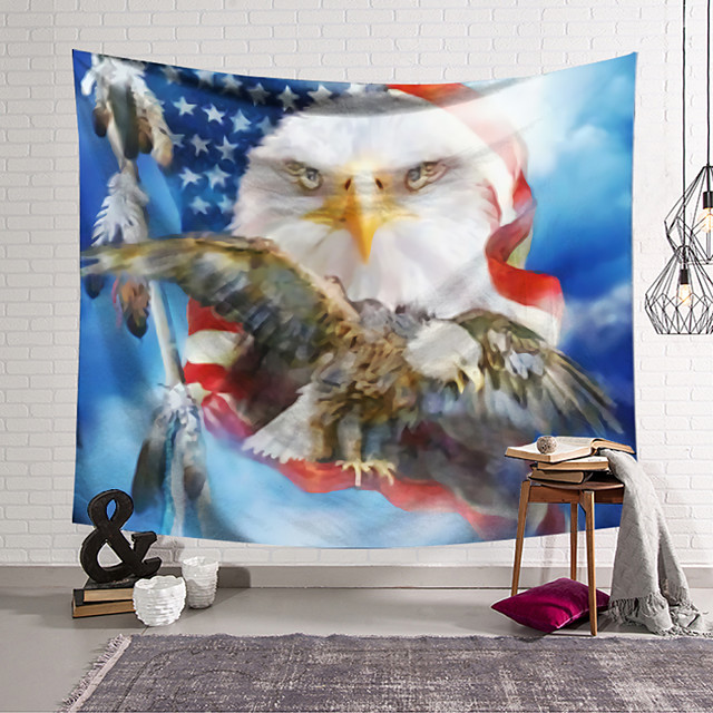 Wall Tapestry Art Decor Blanket Curtain Hanging Home Bedroom Living Room Hawk Animal Abstract Fantasy