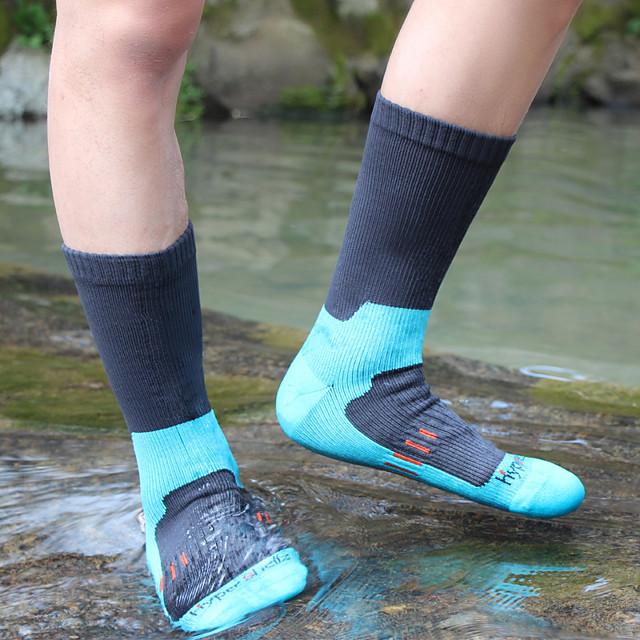 رجالي جوارب لرياضة المشي 1 زوج في الهواء الطلق مقاوم للماء متنفس دافئ   قابل للبسط جوارب بقع لون الصلبة نايلون أسود أزرق أخضر إلى الصيد صيد السمك التسلق