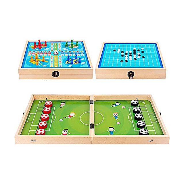 Jeu de rondelle de fronde rapide de football 3 en 1 avec ludo et gobang, jeux de bataille de bureau de table pour enfants adultes et famille interactive