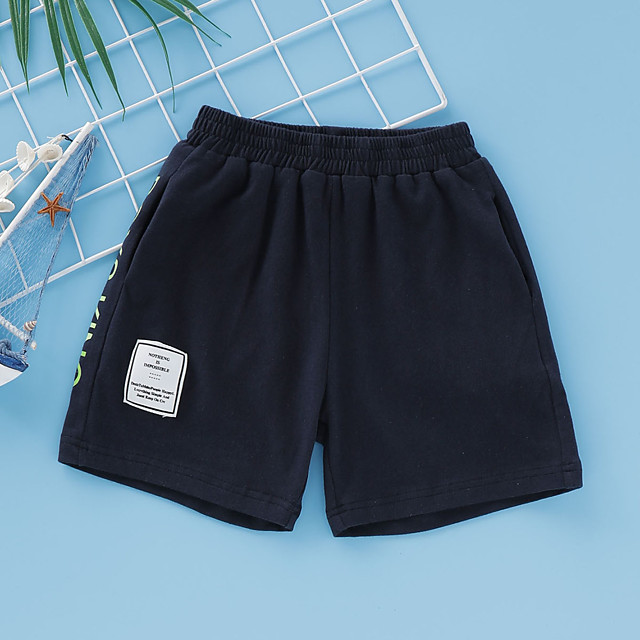 Kids Toddler Boys' Shorts Graphic Print Black Active 2-8 Years
