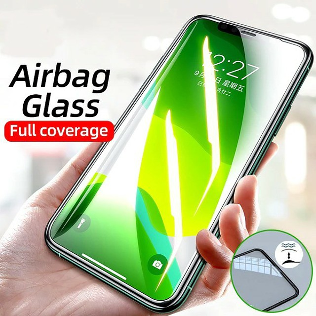 Airbag Edge Tempered Glass Film For New IPhone 12 Pro IPhone 12 2020 IPhone 11 Pro Xr X Xs Max 7 6 8 Plus Screen Protector Film