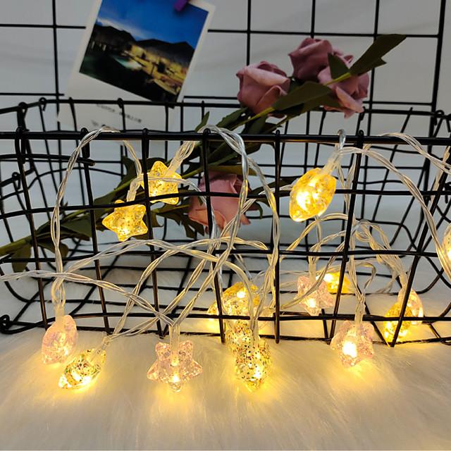 3M Guirlandes Lumineuses 20 LED 1 jeu Blanc Chaud Noël Nouvel An Soirée Décorative Vacances Alimenté par Port USB Piles AA alimentées