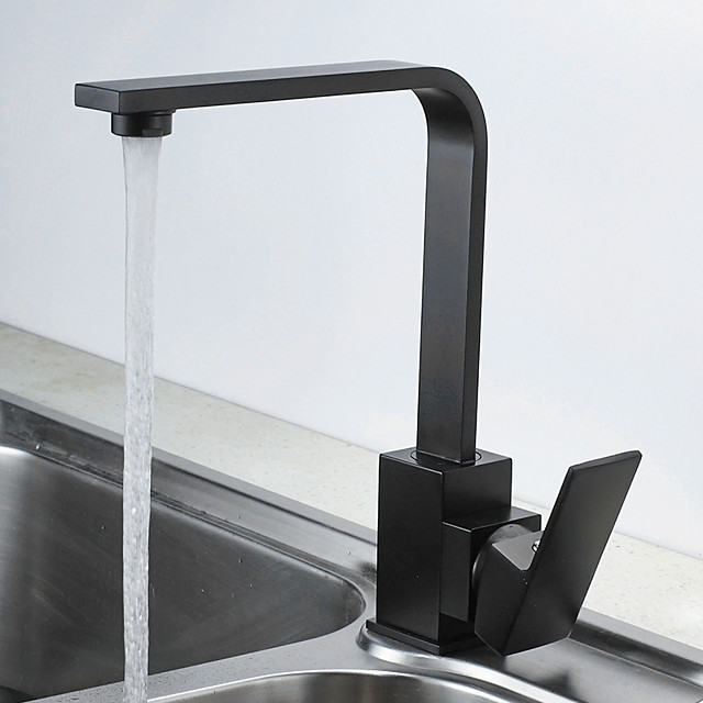 Kitchen faucet - Single Handle One Hole Painted Finishes Standard Spout Free Assemblement Contemporary Kitchen Taps