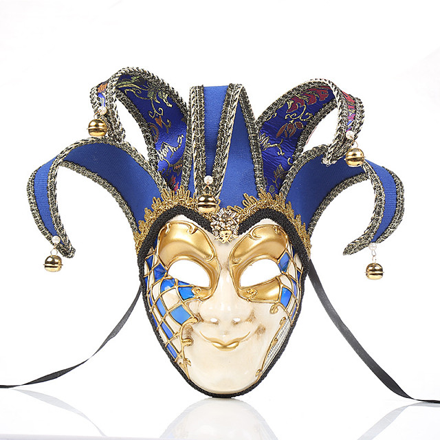 Cosplay Mask Venetian Mask Adults' Men's Cosplay Party Masquerade Halloween Carnival Easter Festival / Holiday Plastics Black / Red / Blue Men's Easy Carnival Costumes Patchwork