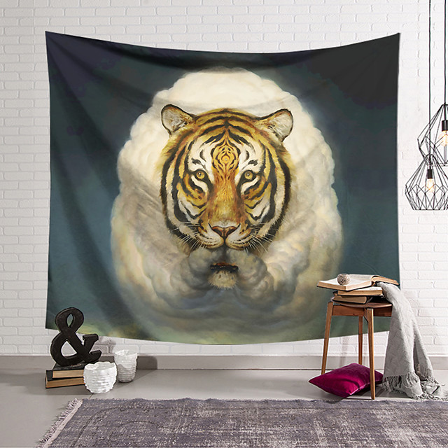 Wall Tapestry Art Decor Blanket Curtain Hanging Home Bedroom Living Room Decoration Polyester Sheep Tiger