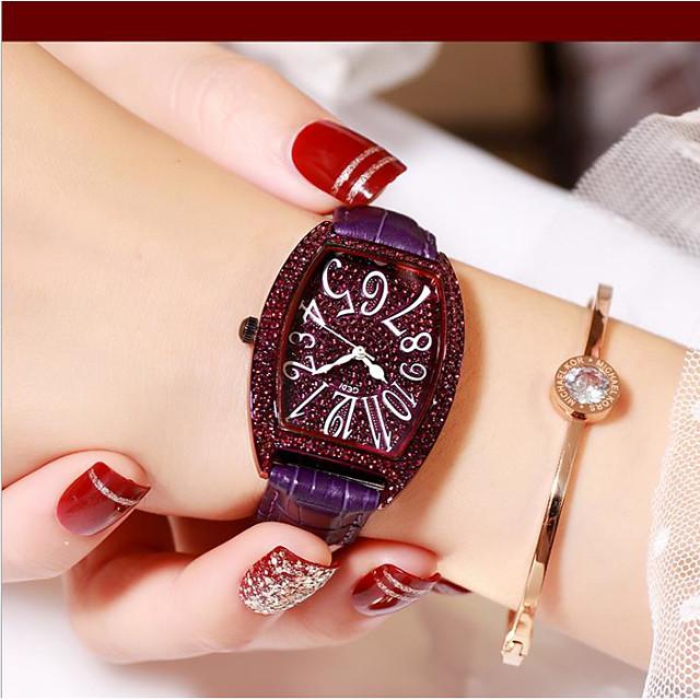 Women's Quartz Watches Analog Quartz Stylish Glitter Fashion Diamond Creative / PU Leather