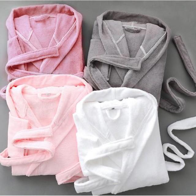 peignoir de qualité supérieure, serviette en coton de couleur unie avec bonnet vêtements de maison absorbant l'eau