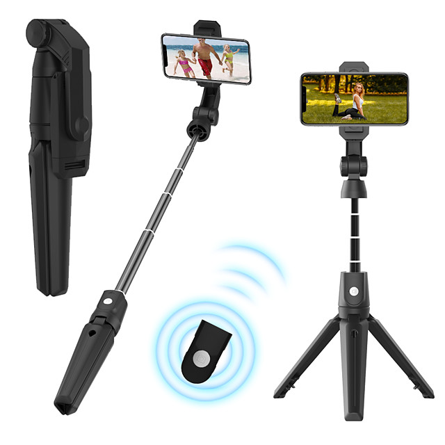 k21 bluetooth selfie stick tripod for iphone samsung oneplus wireless remote bluetooth extensionable max length to 93cm selfie stick for android smart devices smartphones