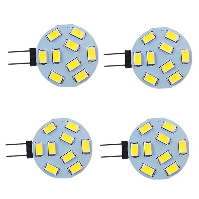 4 pezzi 2 W Luci LED Bi-pin 260 lm G4 9 Perline LED SMD 5730 Bianco caldo Bianco 9-30 V