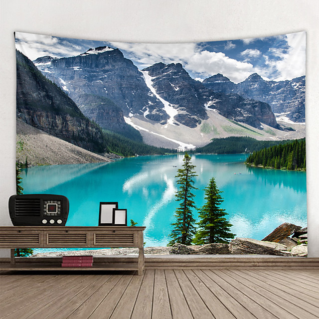 Wall Tapestry Art Decor Blanket Curtain Hanging Home Bedroom Living Room Decoration and Modern and Landscape and Mountain