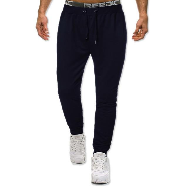 رجالي عارضة / رياضي بنطلونات الخارج الرياضة مناسب للبس اليومي الرياضة سراويل بنطلون لون سادة مكتمل الطول رباط جيب أسود رمادي غامق أزرق البحرية