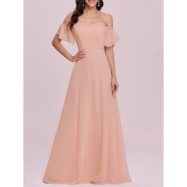 Women's A Line Dress Maxi long Dress Blushing Pink Sleeveless Solid Color Spring Summer Elegant Sexy 2021 S M L XL
