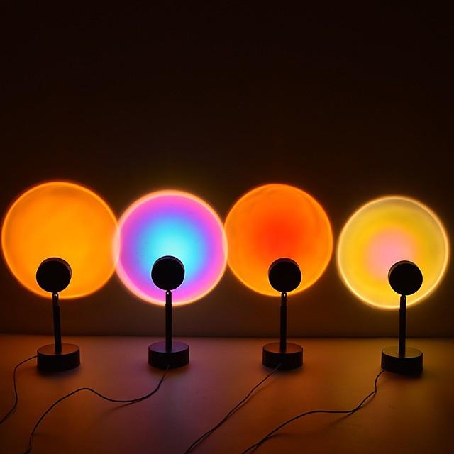 Projecteur Lumière Lampe coucher de soleil Couleurs dimmables Porjecteur du ciel étoilé Aurora Mariage Cadeau Intérieur Couleur aléatoire / Alliage d'Aluminium