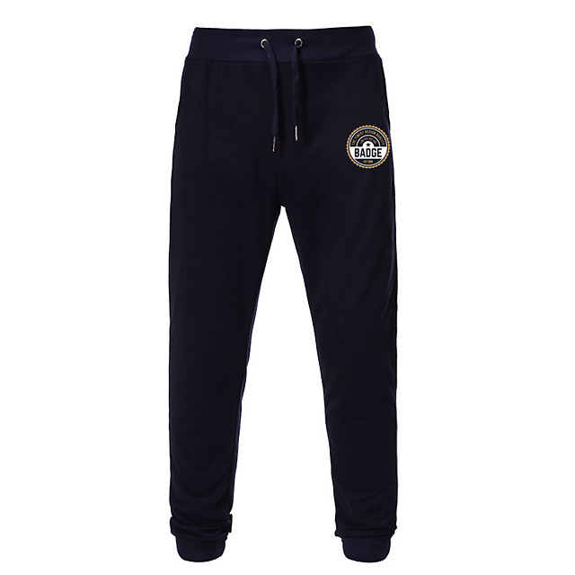 Men's Casual / Sporty Sweatpants Outdoor Sports Daily Sports Pants Pants Graphic Full Length Drawstring Pocket Print Black Light gray Dark Gray Navy Blue