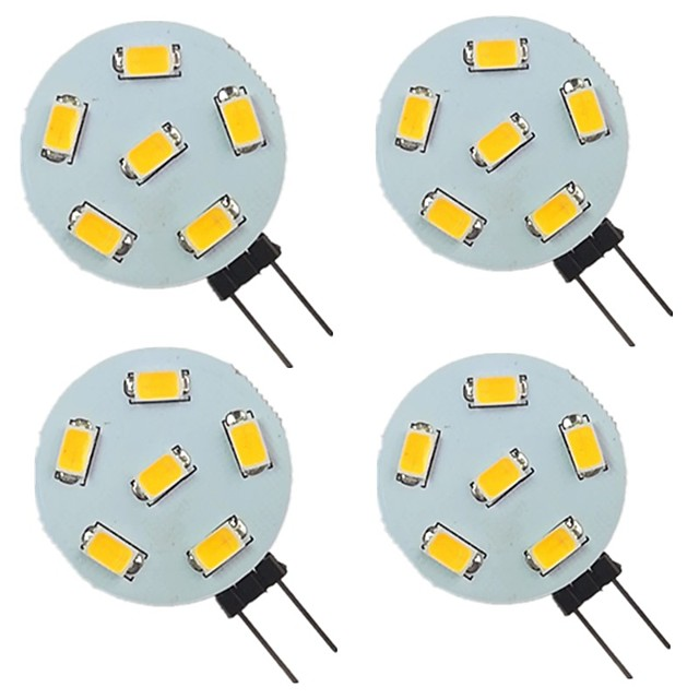 4 pièces 2 W LED à Double Broches 200 lm G4 6 Perles LED SMD 5730 Blanc Chaud Blanc Naturel Blanc 9-30 V
