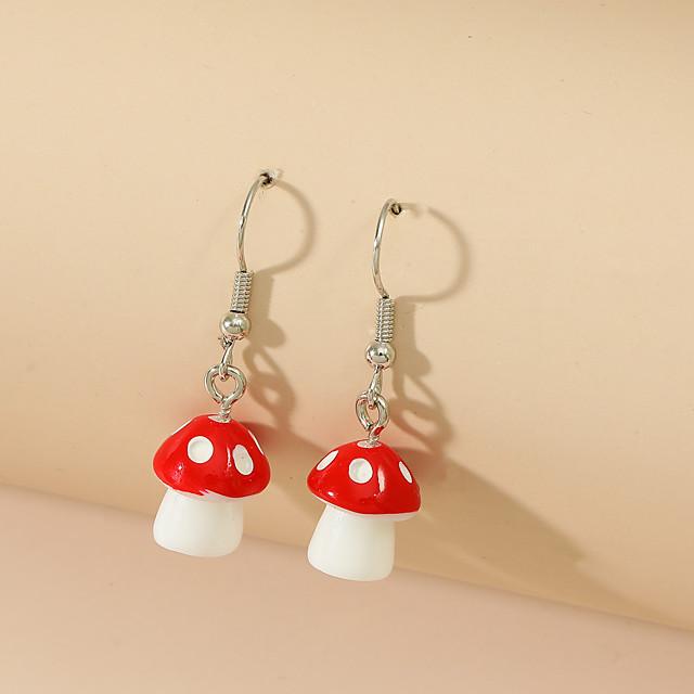 Women's Drop Earrings Earrings Cartoon Fashion Cute Resin Earrings Jewelry Red For Vacation 1 Pair