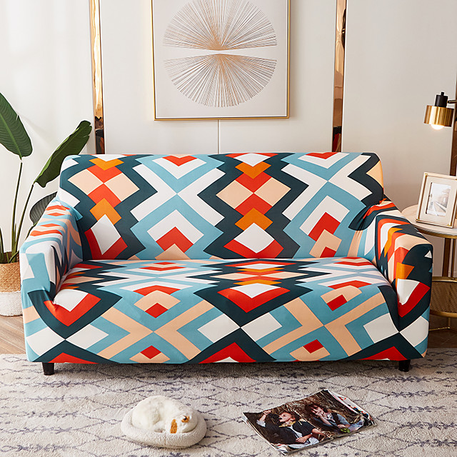 Sofa Cover Print Printed Polyester Slipcovers