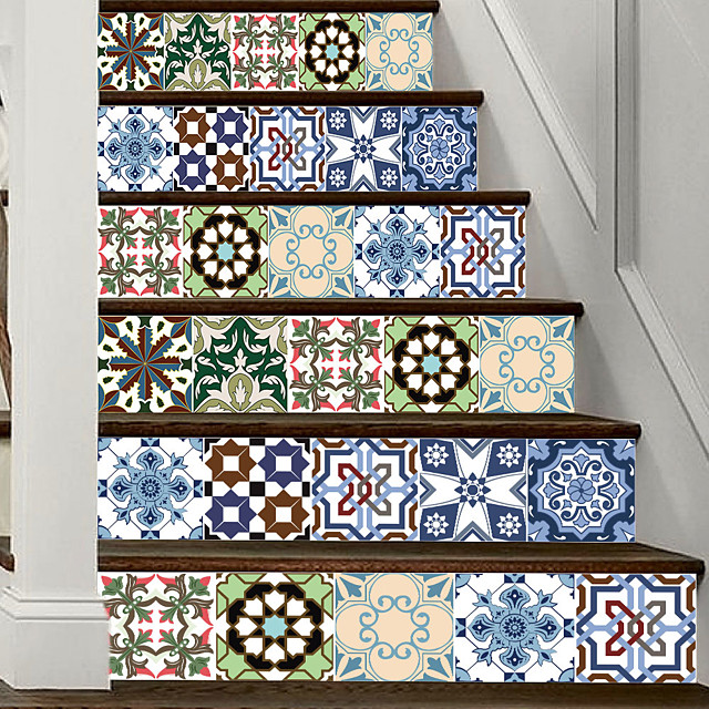 Creative 3d Staircase Stickers European Style Tiles Diy Imitation Decorative Home Stickers Waterproof Wall Stickers