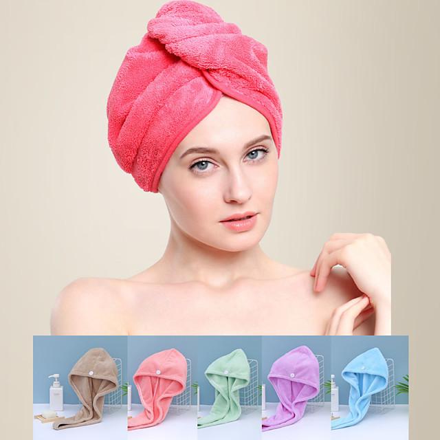 litb basic bathroom miękki koral polar okłady do włosów szybkoschnący ręcznik jednokolorowy wygodny ręcznik do codziennego użytku w domu 1 szt