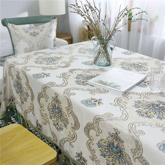 Table Cloth polyester fibre Dust-Proof European Style Solid Colored Tabel cover Table decorations for Daily Wear rectangule 60*60/90*90/90*140/130*130/130*160/130*180/130*200/130*220/130*250 cm Medeo