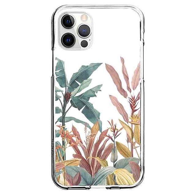 Floral Botanical Case For Apple iPhone 12 iPhone 11 iPhone 12 Pro Max Unique Design Protective Case Pattern Back Cover TPU