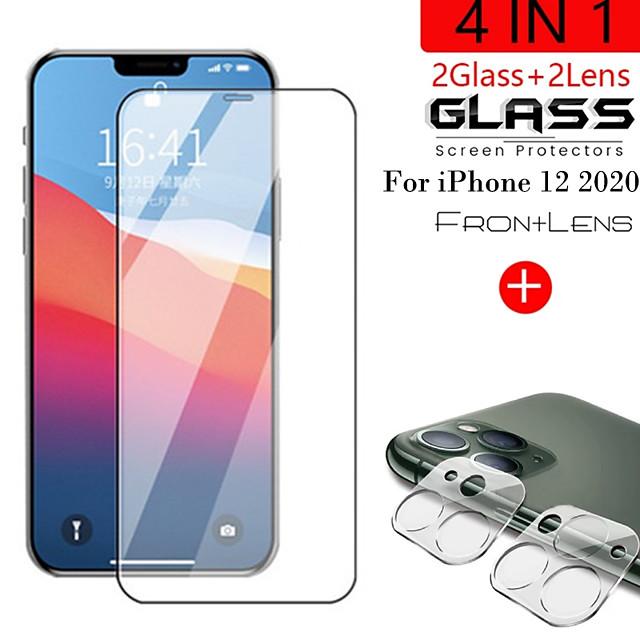 telefono Proteggi Schermo Per Apple iPhone 12 iPhone 11 iPhone 12 Pro Max iPhone 11 Pro iPhone 11 Pro Max Vetro temperato 1 pezzo Alta definizione (HD) Durezza 9H A prova di esplosione Proteggi lente