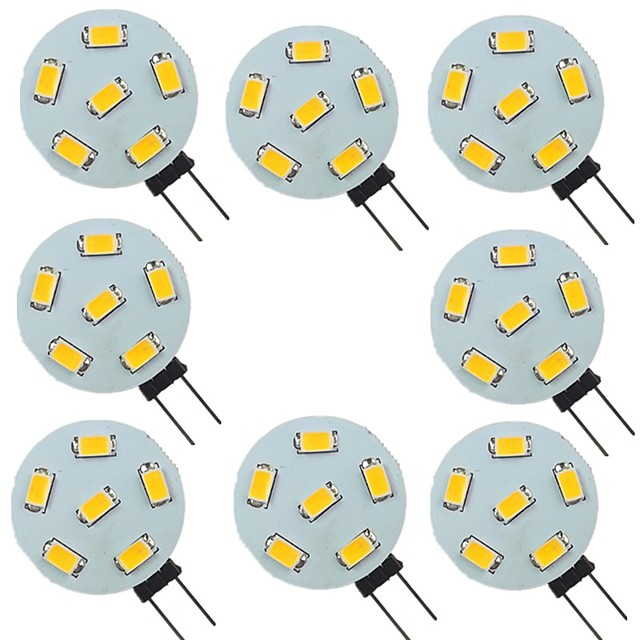 8 pièces 2 W LED à Double Broches 200 lm G4 6 Perles LED SMD 5730 Blanc Chaud Blanc Naturel Blanc 9-30 V