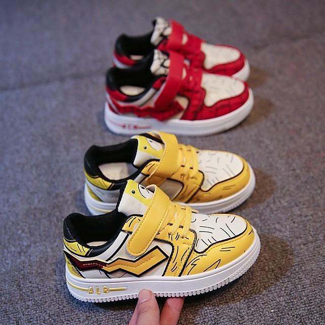 للصبيان أحذية رياضية مريح PU الأطفال الصغار (7 سنوات +) مناسب للبس اليومي المشي أحمر أصفر الخريف الربيع