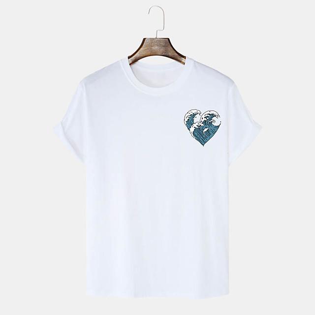 Men's Unisex T shirt Hot Stamping Graphic Prints Spray Plus Size Print Short Sleeve Daily Tops 100% Cotton Basic Casual White Black Blushing Pink