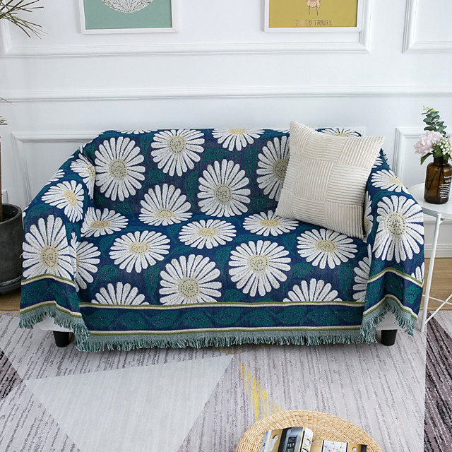 Sofa Cover Floral Printed Cotton Slipcovers