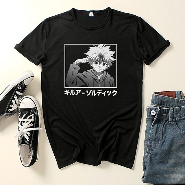 Inspired by Hunter X Hunter Killua Zoldyck Cosplay Costume T-shirt Microfiber Graphic Prints Printing T-shirt For Men's / Women's