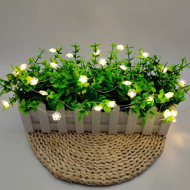 3M Guirlandes Lumineuses 30 LED 1 jeu Blanc Chaud Noël Nouvel An Soirée Décorative Vacances Piles AA alimentées