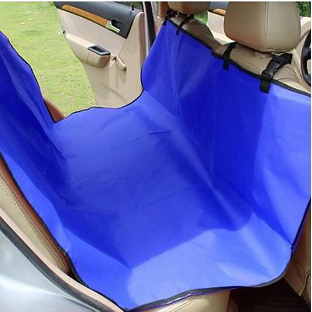Dog Car Seat Cover Portable Solid Colored Oxford Cloth Blue