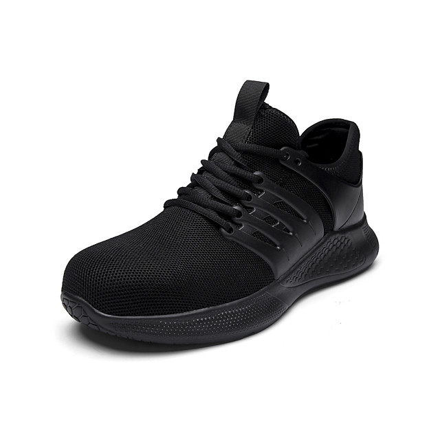 Men's Trainers Athletic Shoes Sporty Athletic Office & Career Safety Shoes Tissage Volant Breathable Non-slipping Shock Absorbing Booties / Ankle Boots Black Blue Gray Spring Summer