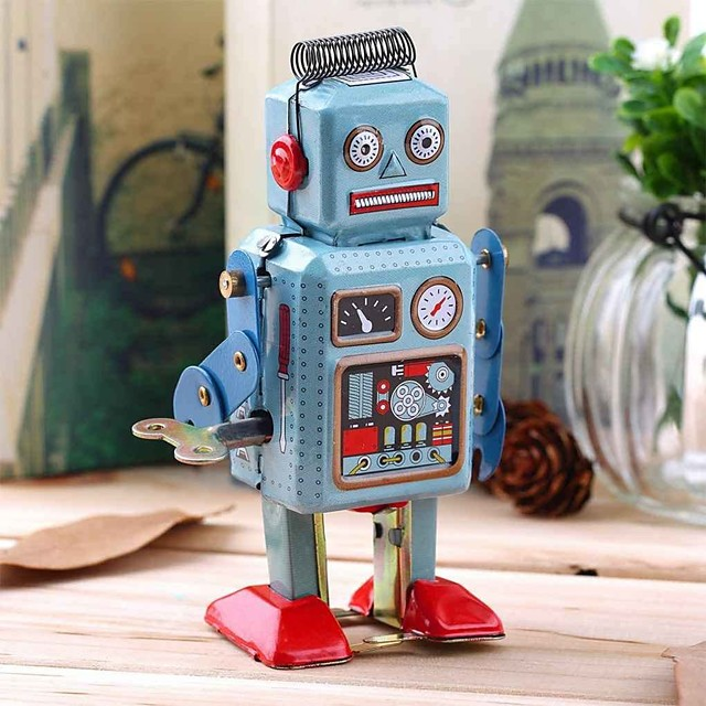 Robot Giocattoli carica a molla Retrò Carro armato Macchina Robot Ferro battuto Ferro Vintage ▾ Retrò Unisex Giocattoli Regalo