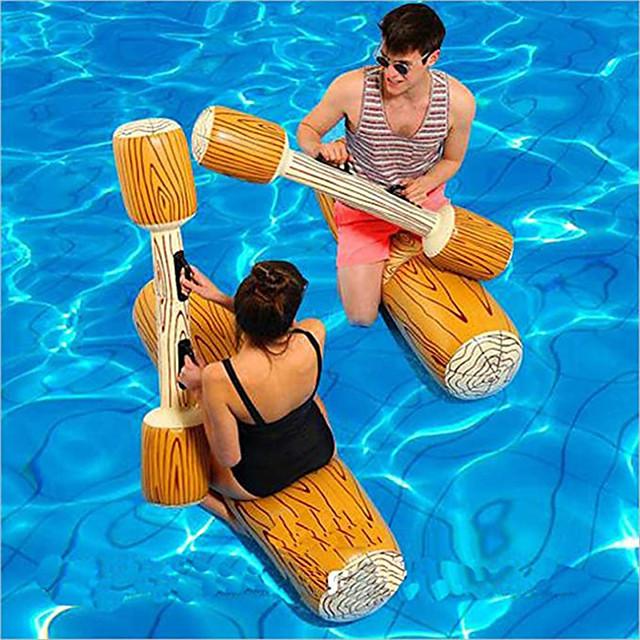 Jouets Gonflables de Piscine Jeux de Table Radeau de salon PVC / vinyle Plaisir de l'eau Journaux de combat Faveur de fête Baignade à la plage d'été 4 pcs Garçons et filles Enfant Adulte