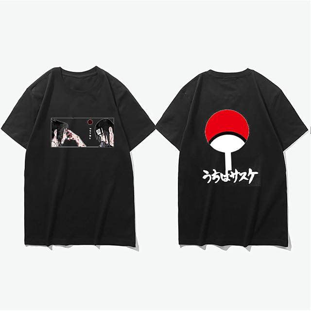 Inspired by Akatsuki Uchiha Itachi Naruto Microfiber Cosplay Costume T-shirt Printing Graphic Prints T-shirt For Men's / Women's