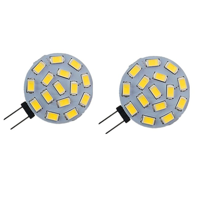 2pcs 2 W LED lumières bi-broches 200 lm G4 6 perles LED SMD 5730 blanc chaud blanc naturel blanc 9-30 v