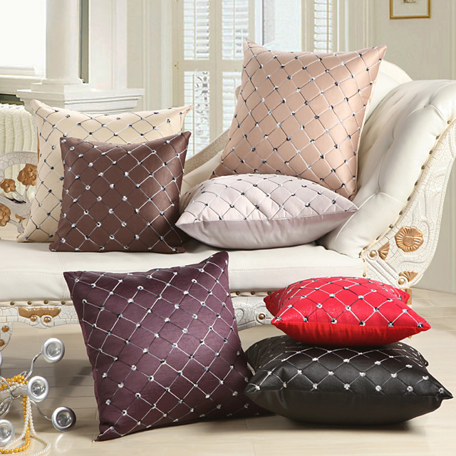 Double Side 1 Pc Geometric Cushion Cover  Print 45x45cm Linen for Sofa Bedroom