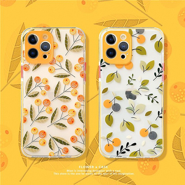 Floral Patterned Phone Case For Apple iPhone 12 11 SE2020 Shockproof Protective Case TPU Cover for iPhone 12 Pro Max XR XS Max iPhone 8 7