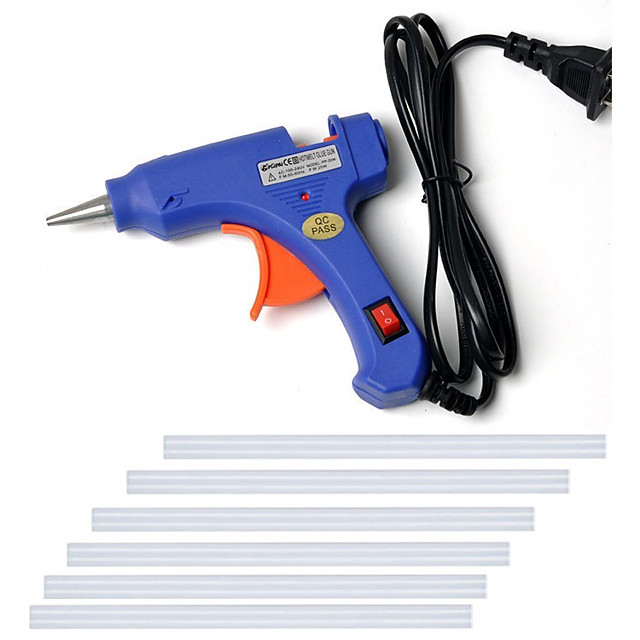 110-240 فولت صمغ يسيح بالحرارة بندقية بندقية صغيرة الحرارية الحرارة الكهربائية أداة درجة الحرارة لتقوم بها بنفسك مسدس الغراء إصلاح مجموعة مع 6 عصا لصق