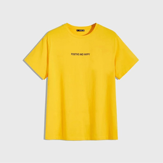Men's Unisex T shirt Hot Stamping Graphic Prints Letter Plus Size Print Short Sleeve Daily Tops 100% Cotton Basic Fashion Classic Yellow