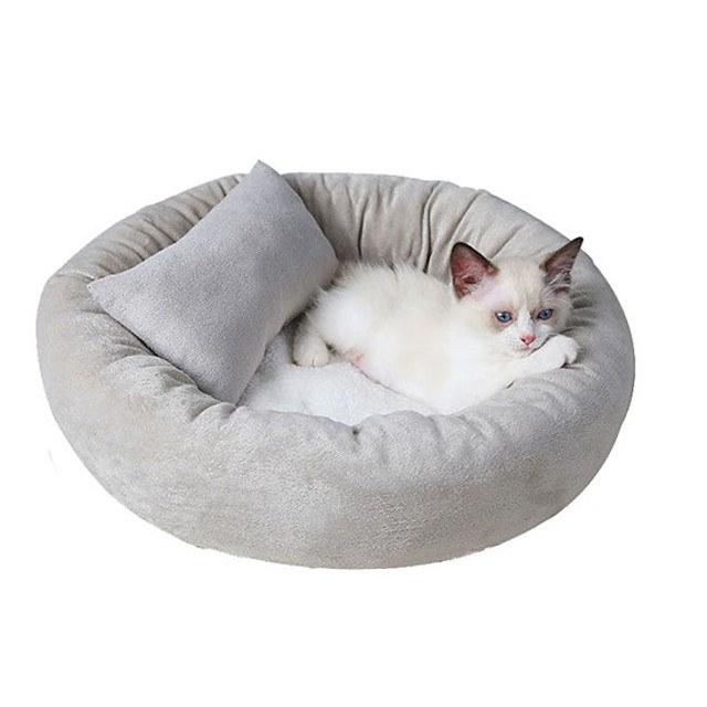 Cat Bed Solid Colored Cute Cute Special Material for Large Medium Small Dogs and Cats
