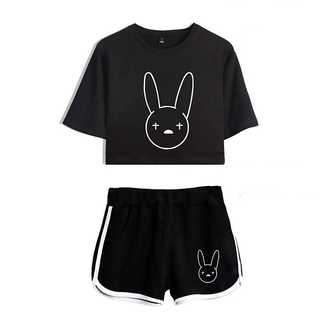 Inspired by Cosplay bad bunny Polyester / Cotton Blend Cosplay Costume Outfits Printing Graphic Shorts For Women's