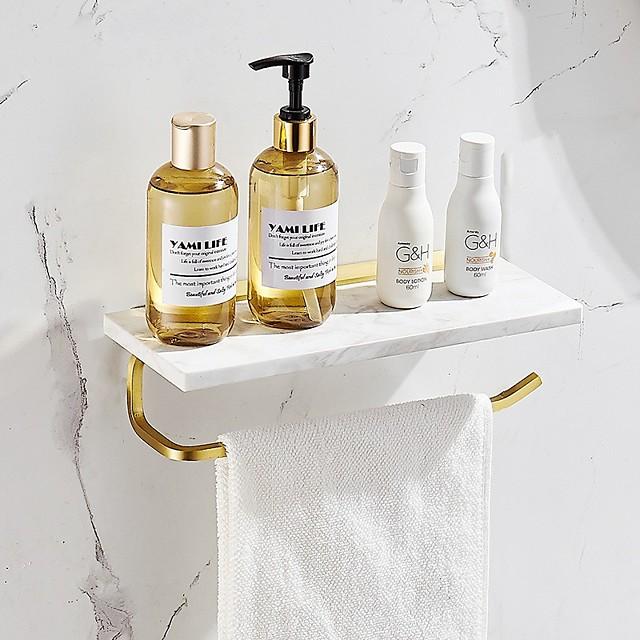 Toilet Paper Towel Holder Toilet Wall-mounted Mobile Phone Holder Bathroom Marble Hand Towel Roll Paper Hanger