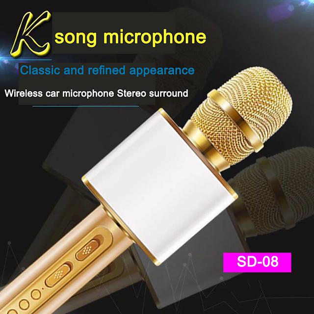 sd-08 microphone sans fil bluetooth haut-parleur portable portable lecteur ktv à la maison
