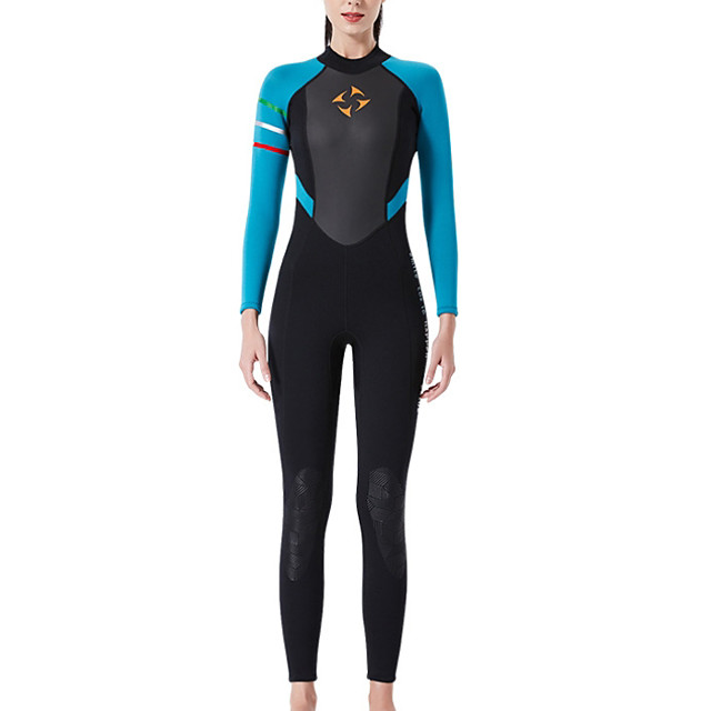 Women's Rash Guard Diving Swimsuit Tummy Control Push Up Slim Solid Color Color Block Black Blue Red Swimwear Bodysuit Scoop Neck Bathing Suits New Neutral Sports