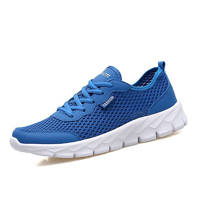 Men's Trainers Athletic Shoes Casual Daily Walking Shoes PU Breathable Non-slipping Shock Absorbing Dark Grey Black Light Grey Spring