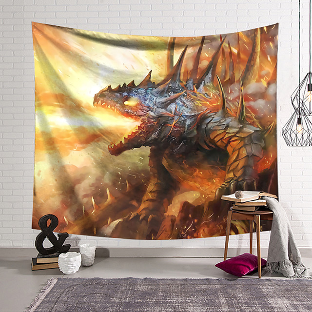 نسيج حائط ديكور فني بطانية ديناصور ستارة معلقة لتزيين غرفة النوم وغرفة المعيشة والديكور والخيال والجدة